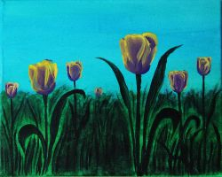 Tulips - Acrylic Painting by Sofia-Sousa