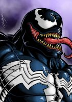 First Venom on Cintiq by Ronniesolano