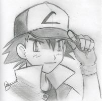 Pokemon - Ash Anime by Squarifa
