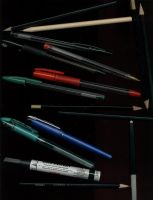 Pens and pencils by antio-stock