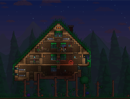 Terraria Treehouse by Eikester