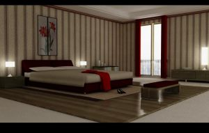 master bedroom -vray c4d test by zigshot82