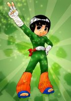 rock lee chibi, colored by GA-Todor