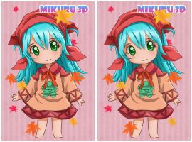 MoE : Mikuru in 3D by n3kozuki