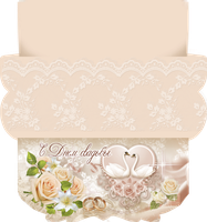 Pastel Wedding Envelope by leila1605