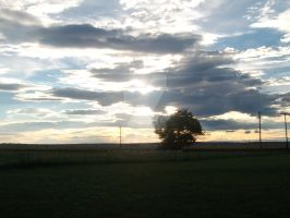 Sunlight threw the Cloud's. -Further Away- by Jo-Strife-Ish-Evil