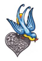 Sparrow Heart by whiterose54