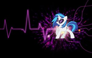 Vinyl Scratch Wallpaper by DJM4RCu5