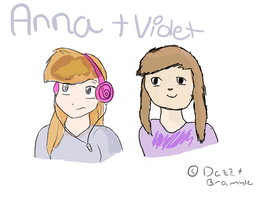 Anna and Violet ^-^ by Brambsie