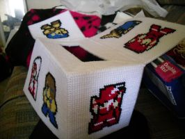 Final Fantasy Tissue Box Cover - WIP 4 by Crowbeak