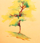 Tree Watercolour by SqueezeBoxx