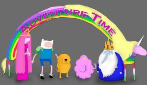 Adventure Time Wallpaper Update by underaoised