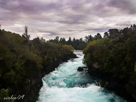 New Zealand - Huka Falls by SirLeo09
