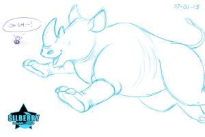 Animal of the Day: Rhinoceros by Silberry