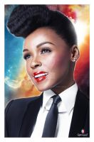 Janelle Monae - Digital Painting by rjartwork