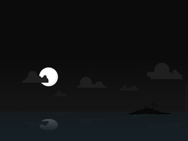 night at the island by pimpmydesk