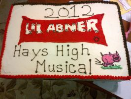 Li'l Abner Cast Party Cake by wickedwitchinc
