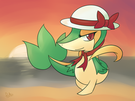 Lady Snivy at Sunset by Pidove