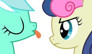 Lyra and Bon Bon as usual by arifproject