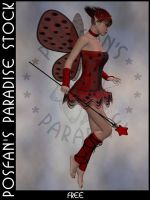LadyBug Faerie 011 by poserfan-stock