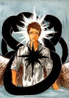 Castiel and the leviathans by EliPoppy