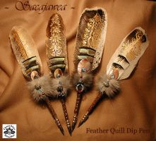 SACAJAWEA Feather Quill Pens by ChaeyAhne
