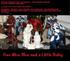 Five wise men and a little baby by Catboy-Trades