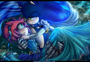 Sonamy- The Princess and the Prince Blue by kalisami