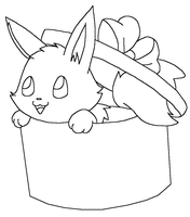 Eevee in box base2 by Skittychu-bases