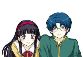Eriol and Tomoyo (Hyouka style) by Eilyn-Chan