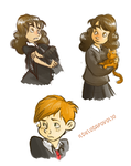 Hermione and Ron. by ilcielocapovolto