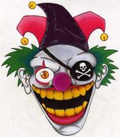 One-eyed clown. by Zombean1138