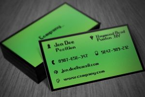 Green IT Business Card Template by BorceMarkoski