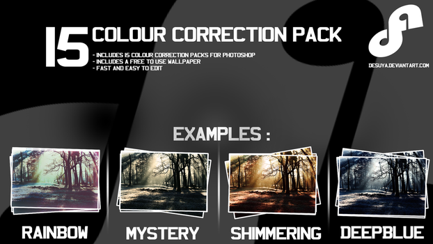 15 Free Colour Correction Pack for Photoshop by Desuya