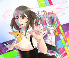 Gatchaman Crowds by Neverominin