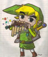 Link- Spirit Tracks Colored by Fab-912