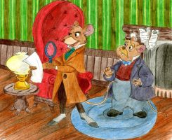 Mouse Detective - colored by charlotte-rhubarb