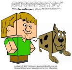 Cubeecraft - Shaggy and Scooby by CyberDrone