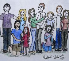 The Cullens, Hales and Jacob by Munchkinmay