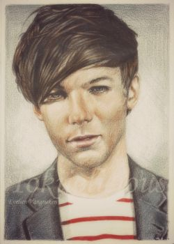 Louis Tomlinson re-draw by Tokiiolicious