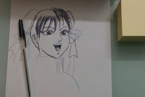 Chun Li in the break time :-) Preview by Markisy
