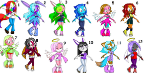 12 Sonic Adoptables OPEN by ForeverAdopts