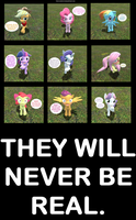 Ponies reactions to being told they're cute. by Pika-Robo