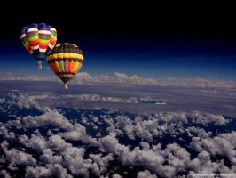 Ballons over the clouds by xtremekid