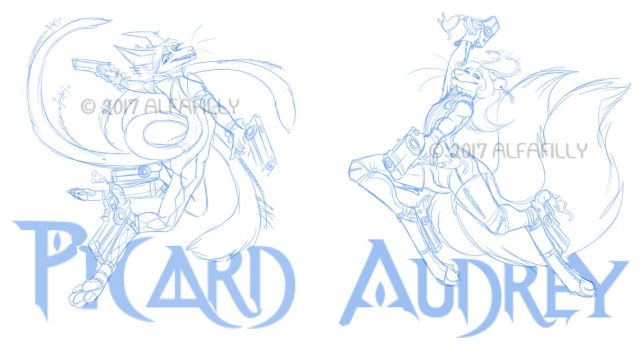 WIP Bayonetta FWA Badges (sketches) by AlfaFilly