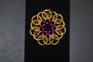 Chainmail Heptagram Flower Pendant by DragonSpiritChains