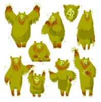 CP: Swamp Bears by Turtle-Arts