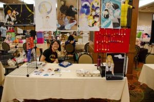 AnimeFEST '12 Artist Alley table by stereometric