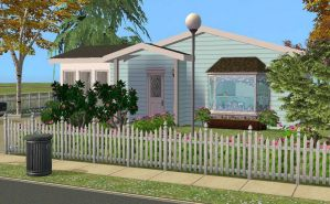 Cozy Blue Home-Side View by allison731
