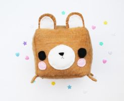 Limited edition - bear cube plush by CosmiCosmos